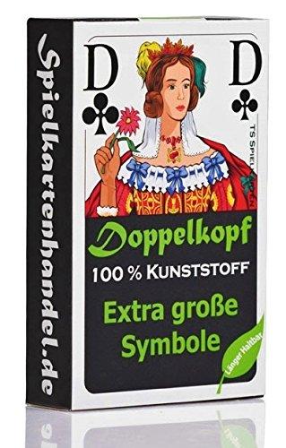 Doppelkopf Senioren Karten aus 100% Kunststoff *PREMIUM* (Plastik +) Spielkarten Französisch, wasserfest
