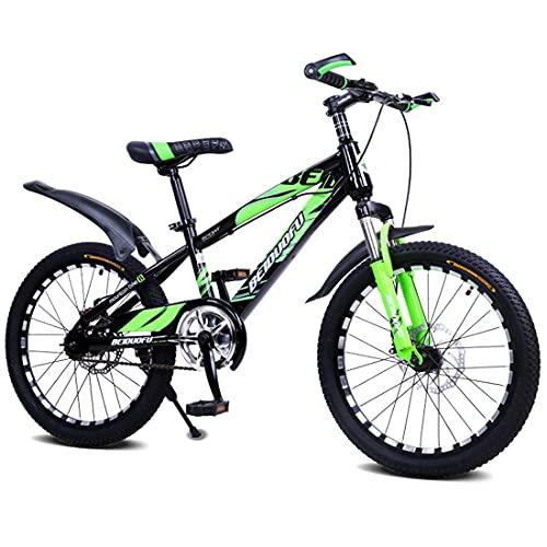 SJSF Y Bicicletas para Niños Niño Niña 5-14 Años Llama Freno De Disco De Una Sola Velocidad Que Absorbe La Vibración 16 18 20 22 Pulgadas Bicicleta para Niños,16'
