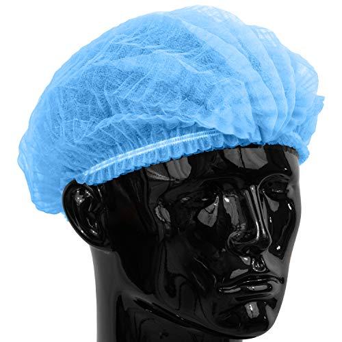 100 x Simply Direct Blau Einweg Haarnetz/Mob Kappen die in einem wiederverschließbaren Beutel geliefert werden