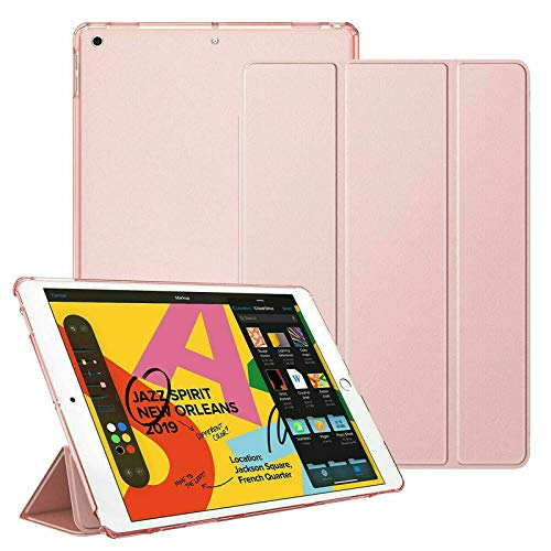 For Apple iPad Mini 1/2/3 Smart Magnetic Stand Case with Automatic Wake/Sleep (Rose Gold)