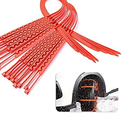 Catene Universali Da Neve Omologate, Anti-skid Cable, Cable Ties Velcro,neve Di Emergenza a Fascetta Set Da Per Pneumatici Dell'auto, Portatili, Anti-slittamento (20 pezzi)