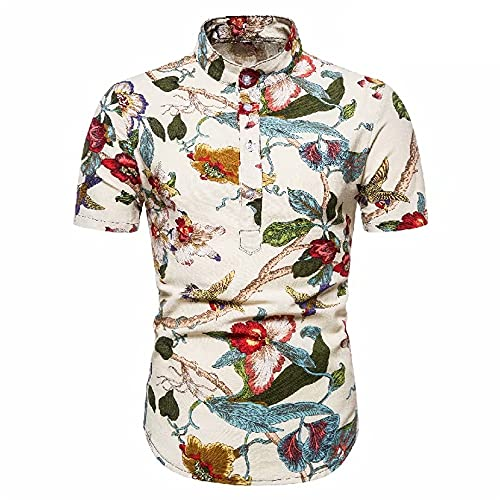 Shirt Hombre Slim Fit Casual Moda Estampada Hombre Manga Corta Viajes Al Aire Libre Vacaciones Urbano Moderno...