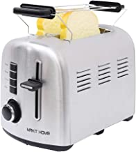 2 Slice Toasters,Toasters 2 Slice Best Rated Prime Extra Wide Retro Stainless Steel Toaster,Bread Toaster,Kitchen Toasters,Small Retro Toasers Oven for Bagel,Bread,Waffles,Bread,Two Slice Toaster
