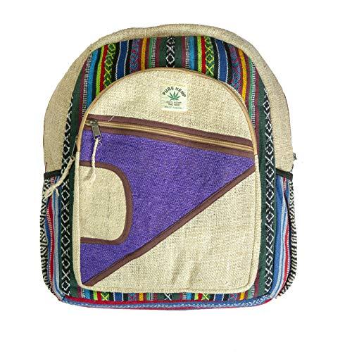 Rucksack aus Hanf, Natürliche Tasche, Handgemacht in Nepal, Moon