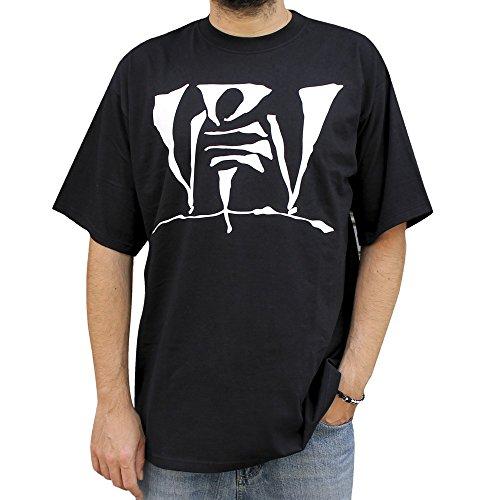 NPNG Camiseta VIOLADORES del Verso Logo 08 Unisex, de algodón en Color Negro