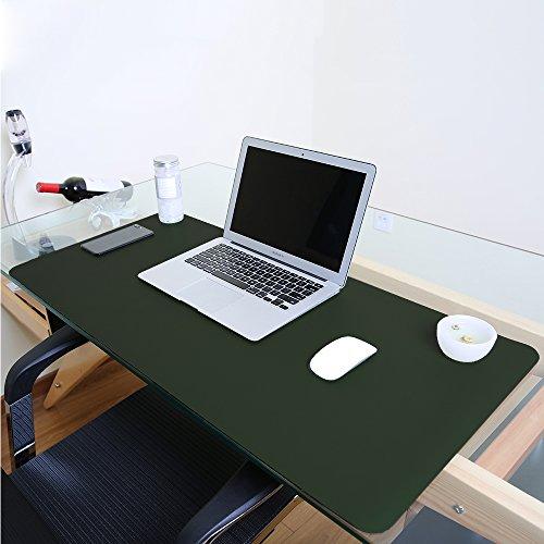 Schreibunterlage, wasserdicht, Kunstleder, ideal als Mauspad, glatte Schreibunterlage, Schutzfolie für Büro und Zuhause, rechteckig L grün