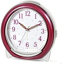 3種類の鳴る目覚まし時計スヌーズレイジーナイトライトかわいいミュート音楽電子シンプルファッションベッドヘッドホームクリエイティブパーソナリティ3色オプション12.6CM * 7.4CM * 12.9CM CHENGYI (Color : Red)