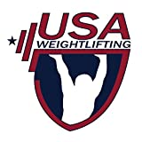 Usa Weightlifting Logo OriginalStickers0848 Set Of Two (2x) Stickers , Laptop , Ipad , Car , Truck , Size 4 inches on Longer Side