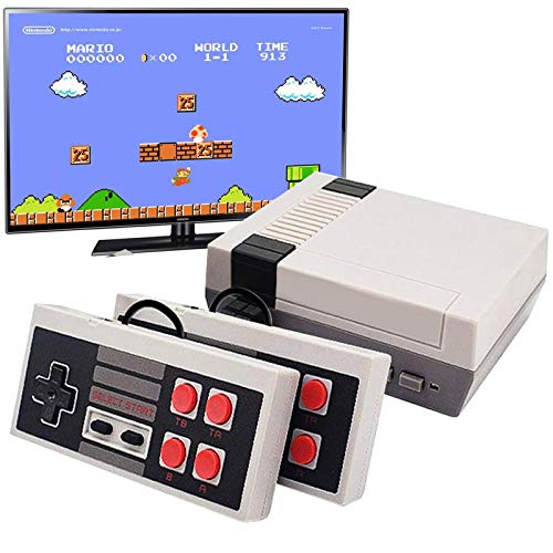 Joseky Classic Handheld Game Console, Built-in 620 Classic Games and 2X4 NES Classic Button Controller Av Output Video Games (White)