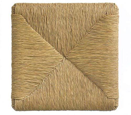 Asientos de paja trenzada de 37 x 37 cm, mod. 901 zf Pisa, recambio para silla, set de 6 🔥