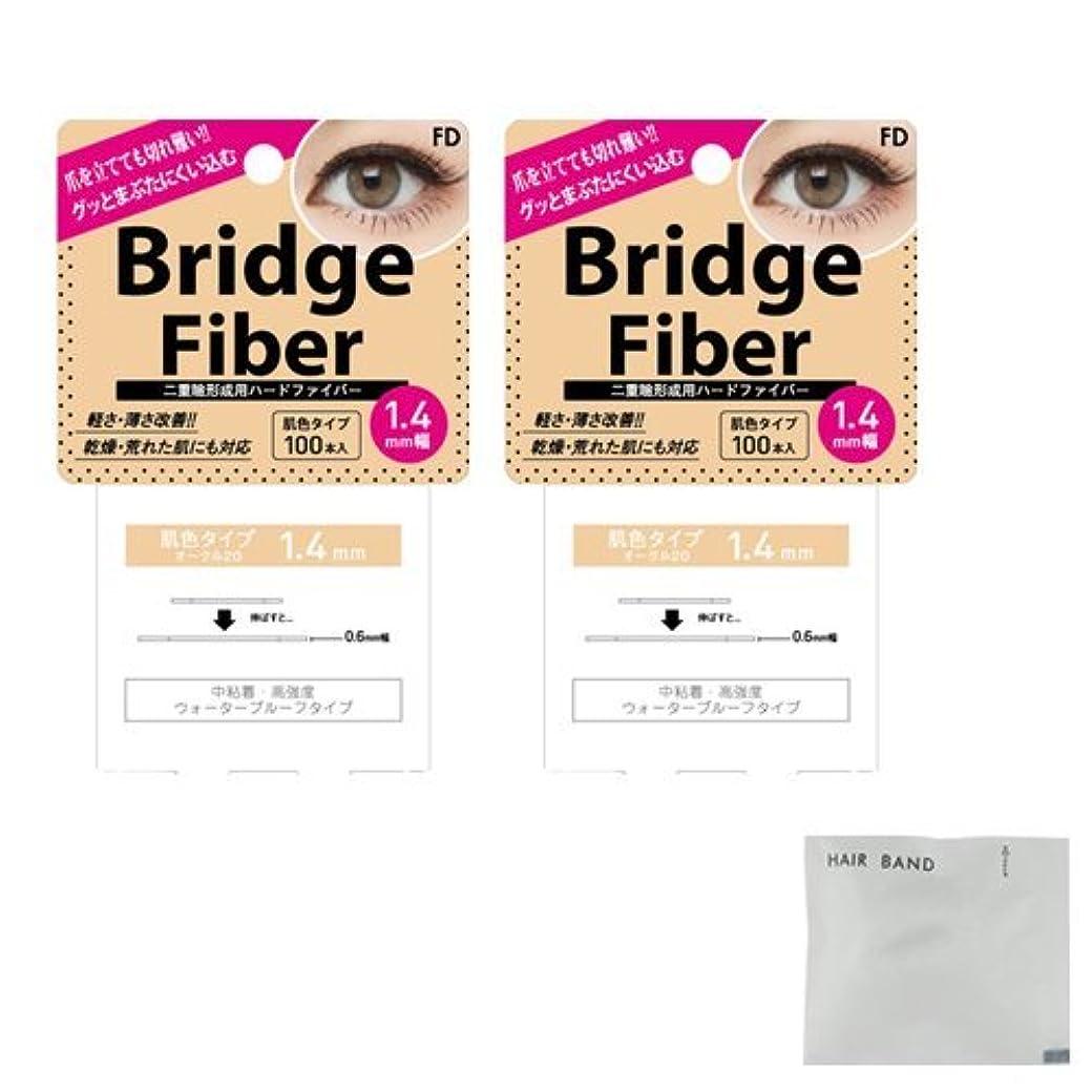 農村クリスチャン牧草地FD ブリッジファイバーⅡ (Bridge Fiber) ヌーディ1.4mm×2個 + ヘアゴム(カラーはおまかせ)セット