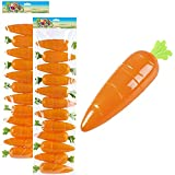 """Bright Orange Plastic Easter Carrots Containers! MATERIAL: Plastic, Unhinged. SIZE: 5.5"""" Inches These Fun Carrot Containers are not hinged. They detach completely Fill These Cute Easter Carrots Containers With Candies, Chocolates And Toys And Give To..."""