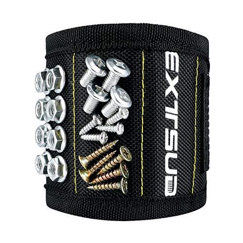 Geschenk für Männer magnetisches Armband, Magnetarmband Handwerker mit 15 starke Magneten Bestes DIY Werkzeug/Schrauben/Bohrer/Nägel, Geschenk für Männer Vater Vaterstag Geburtstag Weihnachten