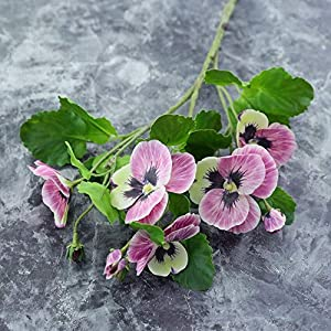 Silk Flower Arrangements Artificial and Dried Flower Artificial Flowers 3D Tape Pansy Fake Flowers Home Decoration Potted Planting Highend Flower Materials Phalaenopsis Orchid - ( Color: Pink )