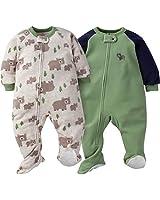 GERBER Baby Boys' 2-Pack Blanket Sleeper, Wild Bear, 24 Months