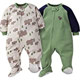Gerber Baby Boys' 2-Pack Blanket Sleeper, Wild Bear, 18 Months