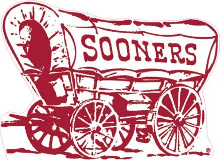 6 Inch Boomer Schooner OU University of Oklahoma Sooners Sooner Logo Removable Wall Decal Sticker Art NCAA Home Room Decor 6 by 4 Inches