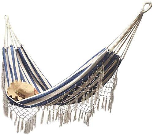 Dubbele Boho kwast Nest hangmat schommelstoel Buiten/binnen Picknicktuin Macrame Braziliaanse hangmat Hangende netstoel Schommels