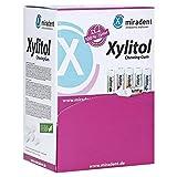 miradent Xylitol Kaugummi Schüttbox | 200x Veganes Xylit Kaugummi ohne Aspartam | Zahnpflegekaugummi für Kinder & Erwachsene