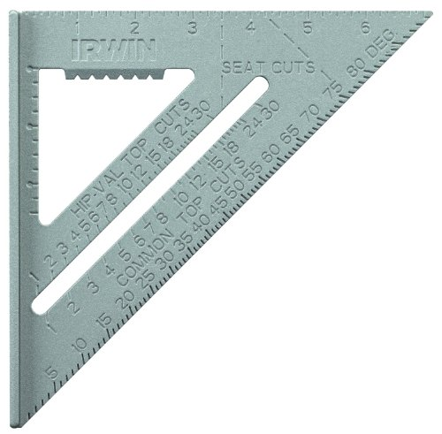 IRWIN Tools Rafter Square, Aluminum, 7-Inch (1794464),Silver