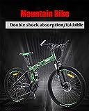 Mountain bikes, 26 pollici otroad mountain bike, peso leggero pieghevole bici, portatile u200b u200bcity pieghevole bicicletta da bicicletta compatta, adulto femmina pieghevole bicicletta adulti uomin