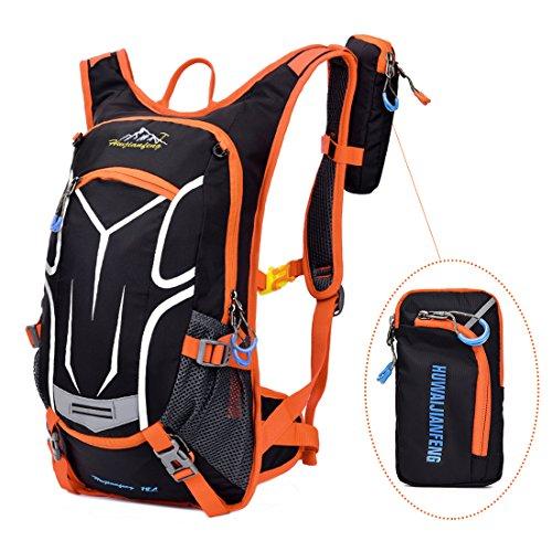 Sac à Dos Vélo 18L, Imperméable VTT Sac Respirant Ultra-léger Sports sac à dos Running Hydratation Compatible pour la Randonnée Cyclisme avec Couverture de Pluie
