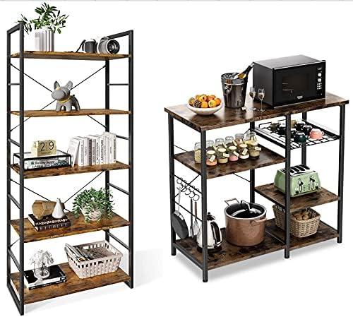 ODK Bookshelf and File Storage Shelves, Organizer Workstation