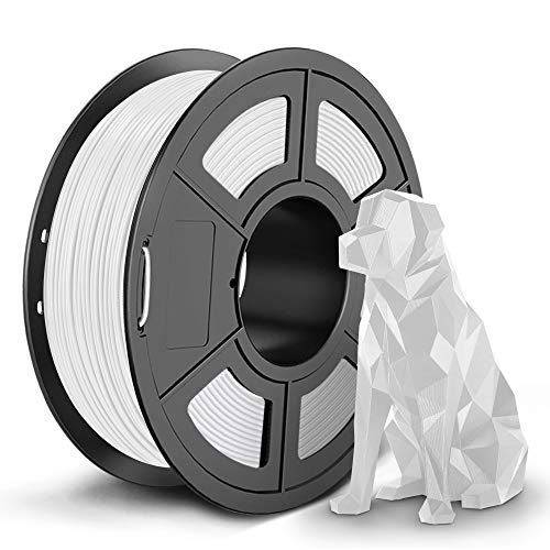 SUNLU 3D Filament, 3D Printer Filament New 3D Filament of PETG, 1.75mm, 0.02 mm, 1KG White SPLA