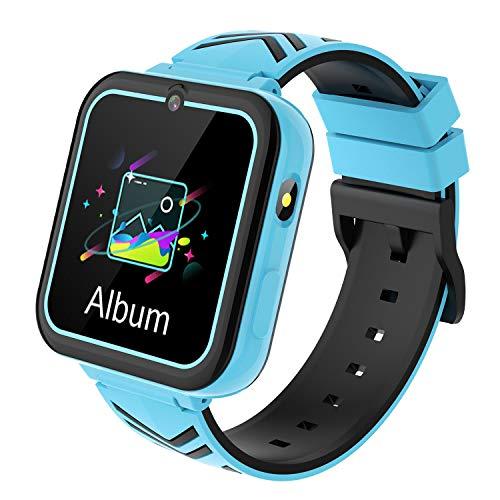 Smartwatch für Kinder, Smartwatch Kinder Mädchen mit 1,54'' HD Touchscreen Spielen Zwei-Wege-Anruf SOS Musik Kamera Taschenlampe, Smartwatch Kinder für Junge Mädchen 4-12Y Geburtstagsgeschenk