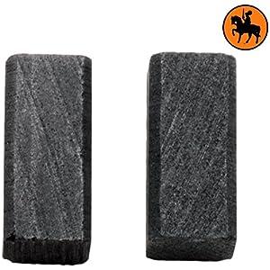 Escobillas de Carbón para BLACK & DECKER DN11 amoladora — 6,3×6,3×13,5mm — 2.4×2.4×5.1»