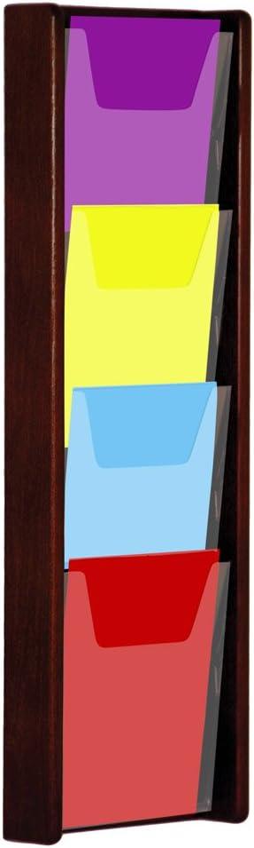 Wooden Mallet 4-Pocket Stance Display Financial Max 70% OFF sales sale Wall Mahogany