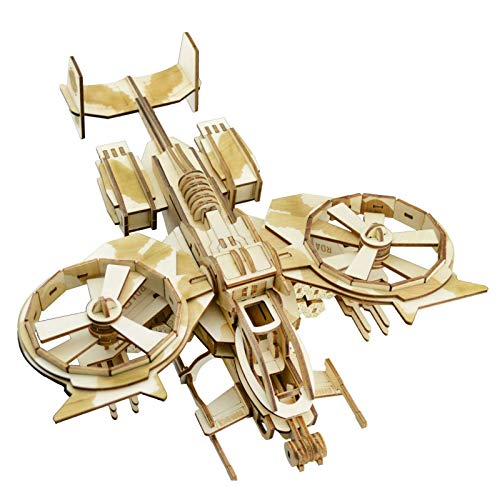 XLQ 3D Puzzles - Wooden Fighter Toys,DIY Assembly Model Kits for Adults And Kids(189 Piece)