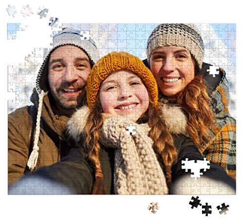 Puzle de fotos con diseños propios, personalizable, regalo de foto con foto personalizada, regalo romántico de cumpleaños o aniversario de Navidad, 35 piezas