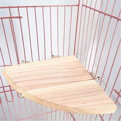 Yosoo インコ 止まり木 コーナーステージ ケージステージ 鳥ステージ ケージ止まり木 スタンド 木製ステー...