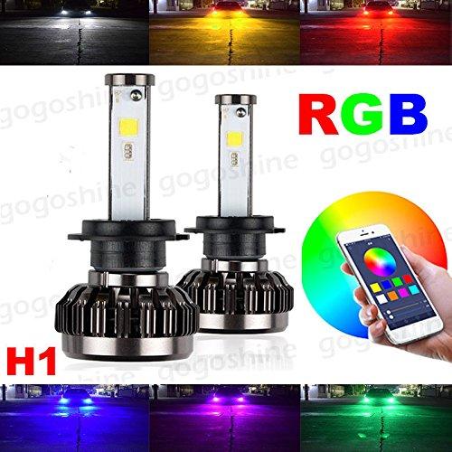 Torofibi H1 2 in 1 Auto Led Headlight Kits - HZ-RGB Smartphone App-enabled Bluetooth RGB + LED Headlight Conversion