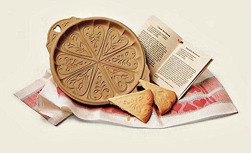 Brown Bag Designs Shortbread Cookie Pan - Hearts and Flowers