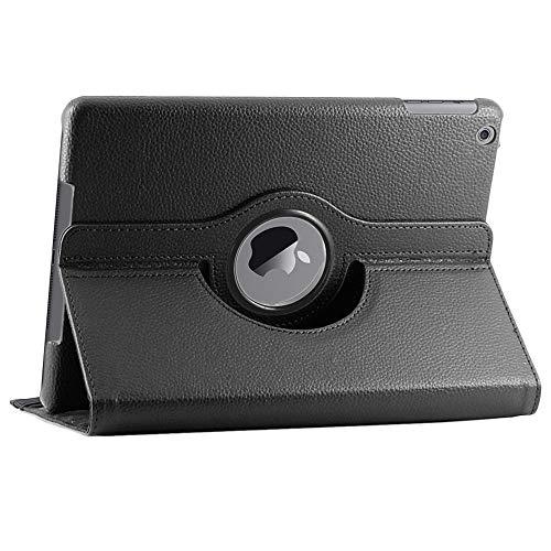 ebestStar - Funda Compatible con iPad 2018 9.7 2017, Air 1 2013 Carcasa Cuero PU, Giratoria 360 Grados, Función de Soporte, Negro [Aparato: 240 x 169.5 x 7.5mm, 9.7