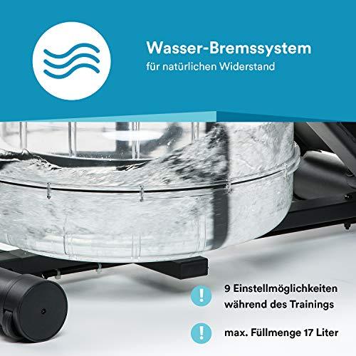 skandika Wasser Rudergerät Nemo II/III, Water Ruderzugmaschine mit regulierbarem Wasserwiderstand - 2