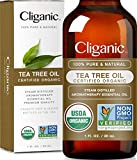 Cliganic Organic Tea Tree Essential Oil, 100% Pure Natural, Therapeutic Grade for Aromatherapy | Premium Certified Organic, Non-GMO