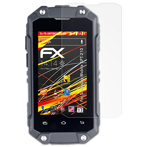 atFolix Schutzfolie kompatibel mit Simvalley-Mobile SPT-210 Bildschirmschutzfolie, HD-Entspiegelung FX Folie (3X)