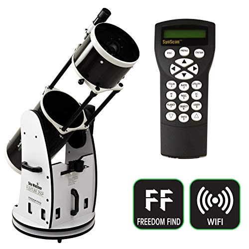 SkyWatcher Flextube 250 SynScan Dobsonian 10-inch Collapsible Computerized GoTo Large Aperture Telescope, White, Model: S11810