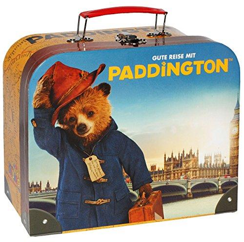 Unbekannt Koffer / Kinderkoffer -  Gute Reise  - Paddington Bär / London England - Pappkoffer - Puppenkoffer Koffer Kinder Pappe Karton - ideal für Spielzeug...