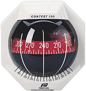 Nautos 17294 - Contest 130 Compass - Vertical Mount - White Compass with RED Card-PLASTIMO