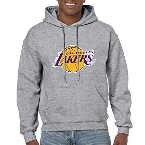 NBA Lakers Kobe Bryant Fashion Tendencia Kobe Bryant Hoodie Hombre Baloncesto Hombres Carta de Deportes Imprimir Sudadera Moda Casual Moda Sudadera con Capucha for Bryant Fans (Size : L)