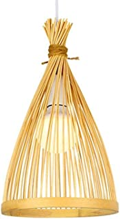 Xungzl Bamboo Woven Household Bedroom Decoration Chandelier Pure Natural Hand-woven Pendant Lighting Rural Style Restauran...