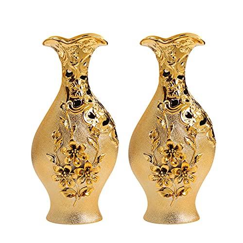 Amerykańskie światło luksusowe wazony dekoracyjne, aranżacje kwiatowe, przenieść się do nowych domów, kreatywne meble, wazony, ozdoby, dekoracyjne wazony, wazony kryte-Pary złotych wazon