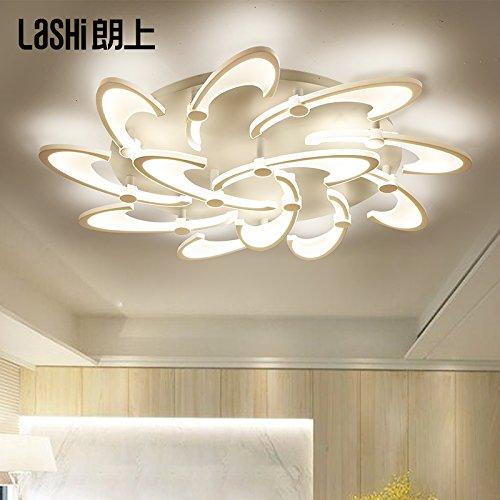 lemumu Minimalista stanza vivente personalità di luce atmosferica LED arte moderna camera da letto illuminazione Lampade da soffitto 12 diametro di testa 100cm di luce calda 108W
