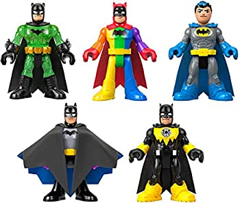 Fisher-Price Imaginext DC Super Friends Batman 80th Anniversary Collection Figure 5-Pack Amazon Exclusive