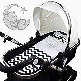 4-tlg.Set Baby Bettwäsche Decke Kissen für Kinderwagen Stubenwagen Wiege Garnitur - GRATIS...