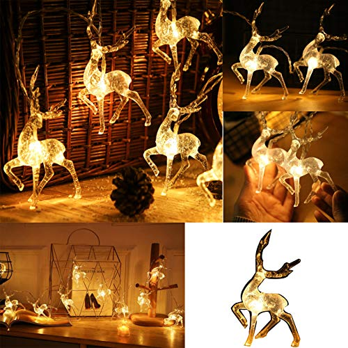 Sentmoon Lighted Deer Family Outdoor Christmas Decor, Winter Decoration for Front Yards Outdoor Christmas Lawn Decoration
